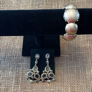 Jewelry - Gold Toned Drop Earrings and Bracelet